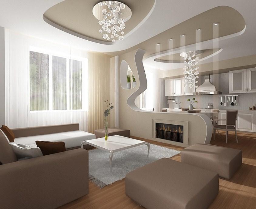 Декоративные перегородки для зонирования кухни и гостиной