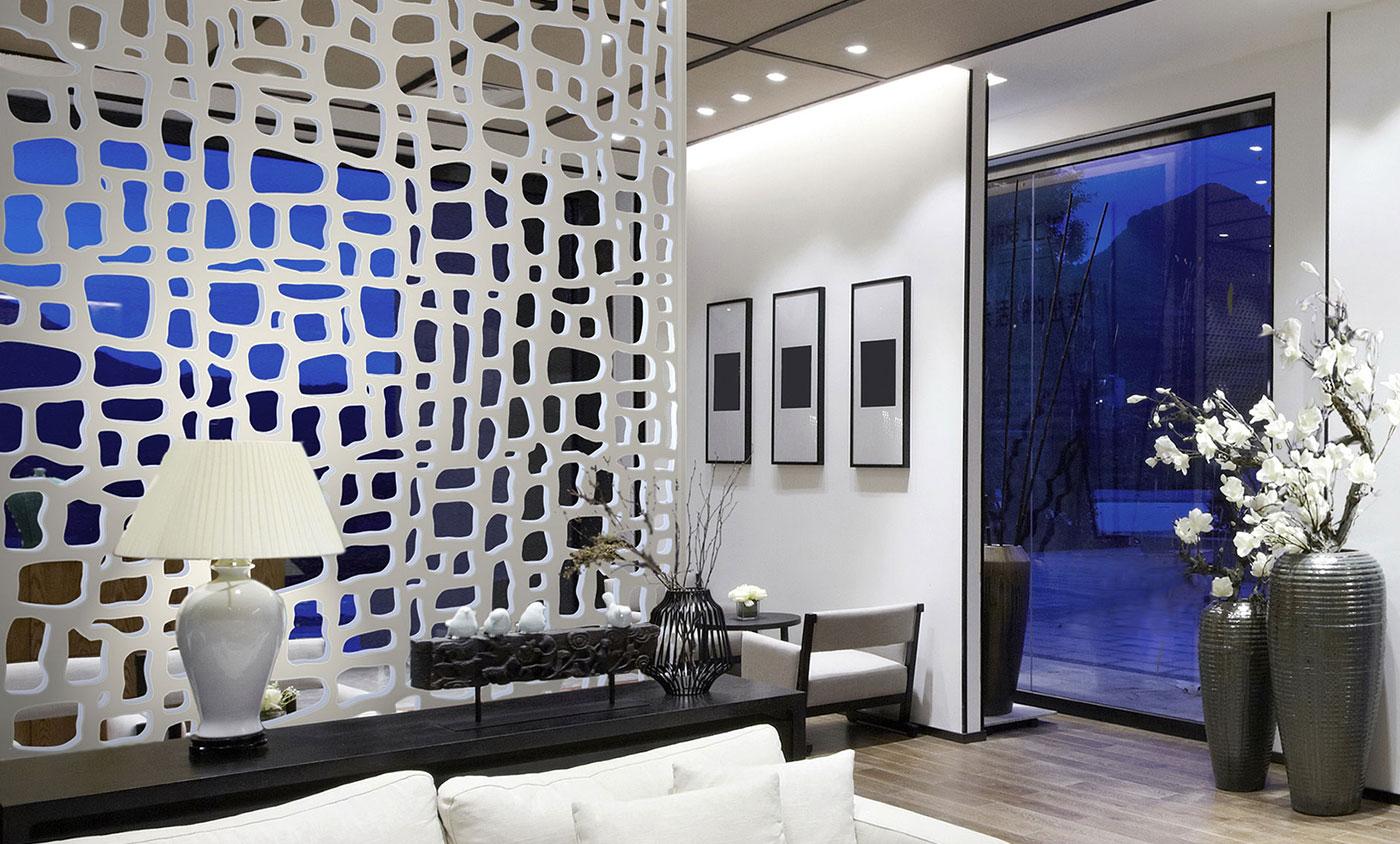 Декоративные перегородки из МДФ в интерьере помещения
