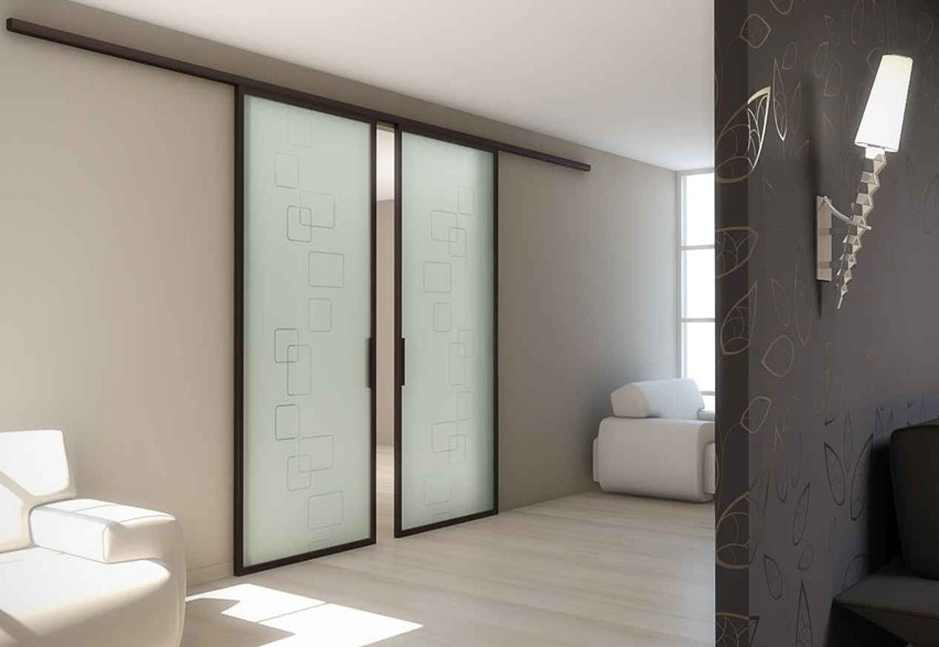 Дверные раздвижные перегородки в интерьере офиса и квартиры