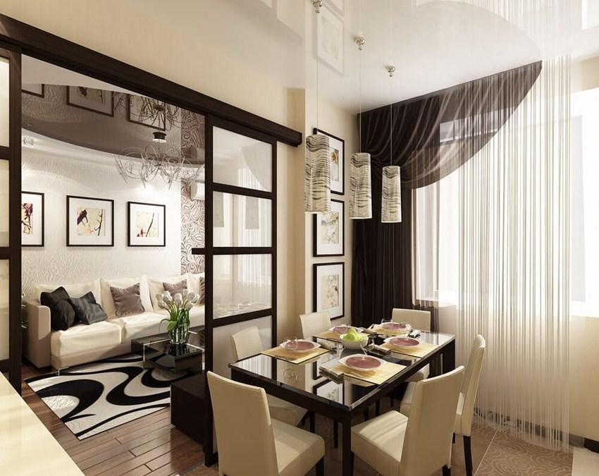 Раздвижные перегородки в гостиную