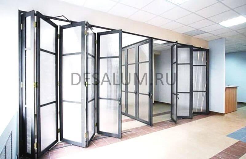 Пластиковые двери гармошка desalum