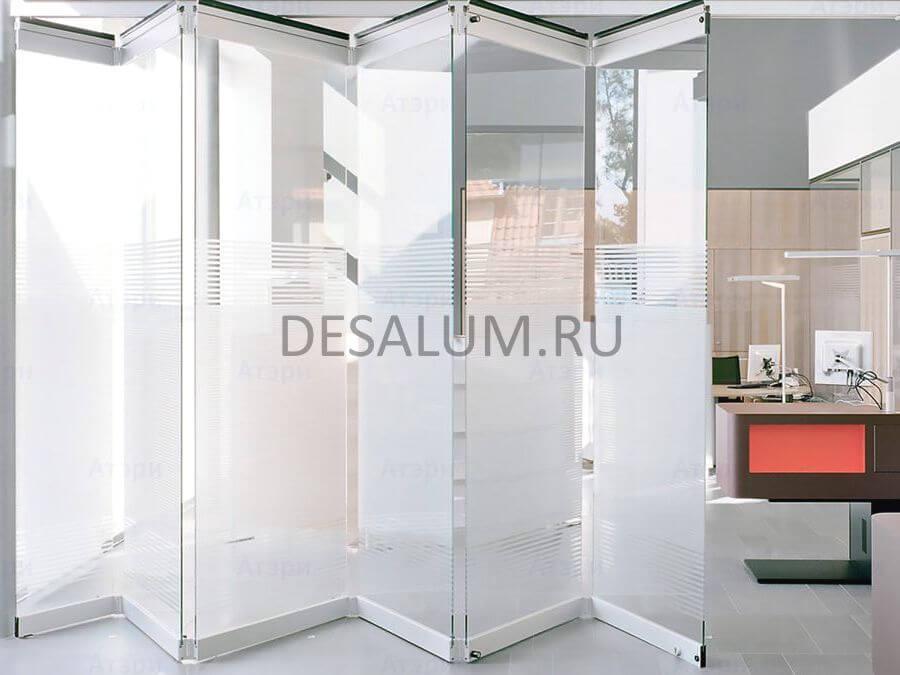 Раздвижные двери гармошка desalum