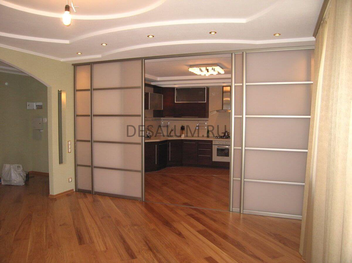 Раздвижные двустворчатые межкомнатные двери desalum
