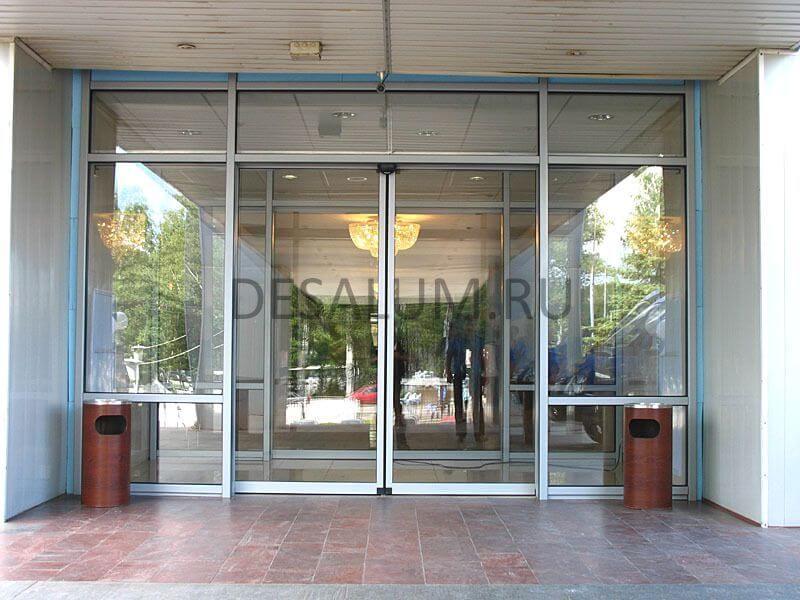 Автоматические двери для магазинов desalum