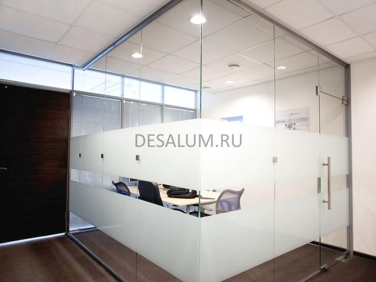 Офисные перегородки из матового стекла desalum