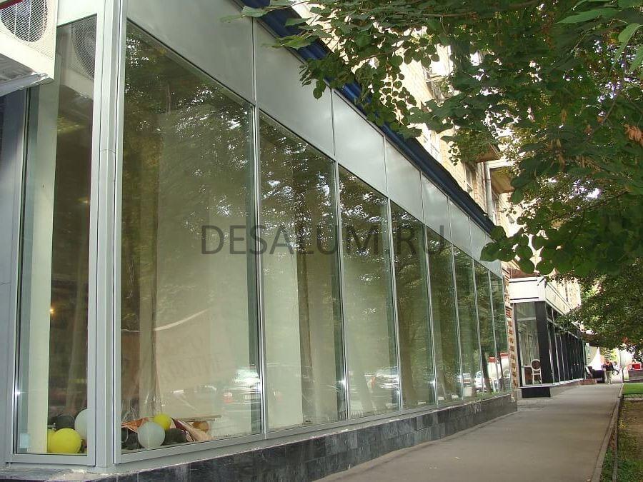 остекление магазинов desalum