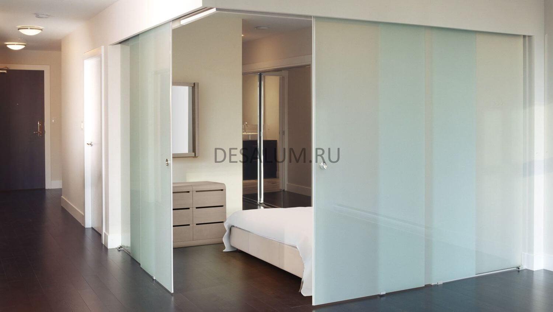 Откатные двери в ванную комнату desalum