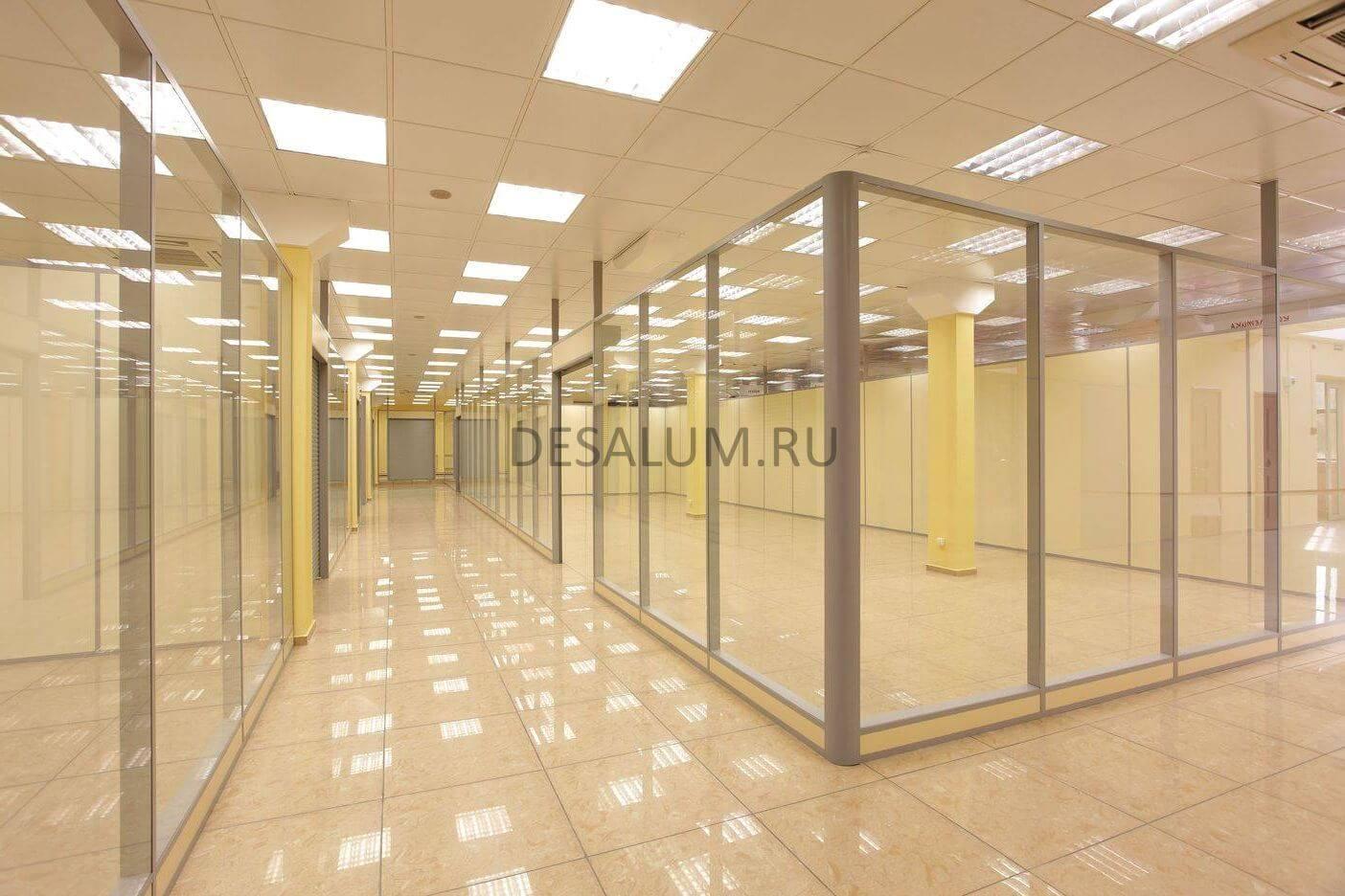Перегородки для торговых центров desalum