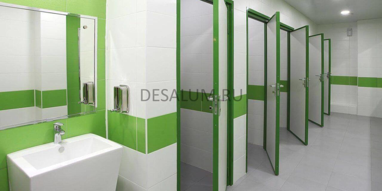 Перегородки для общественных туалетов desalum
