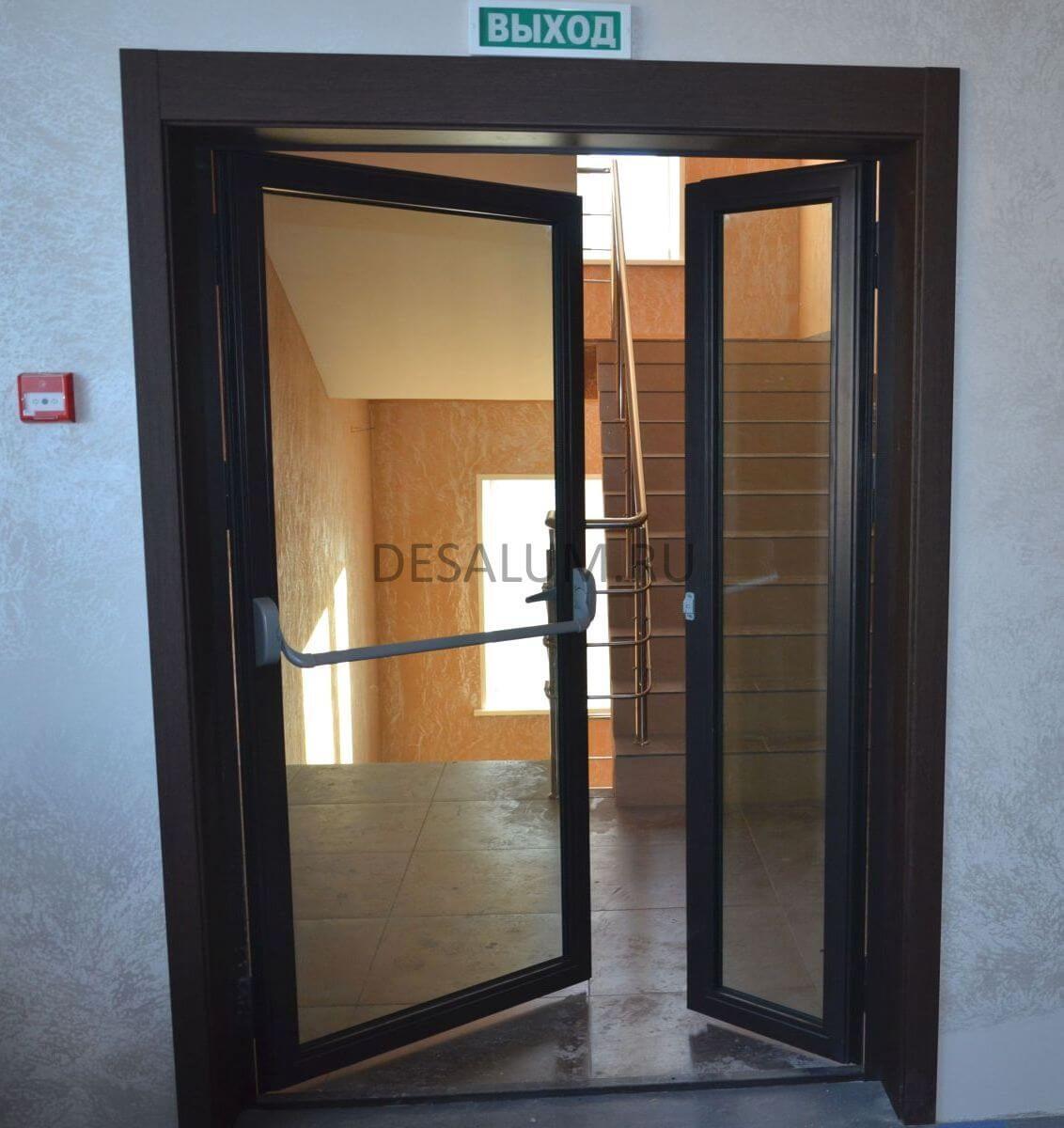 Противопожарные стеклянные двери desalum