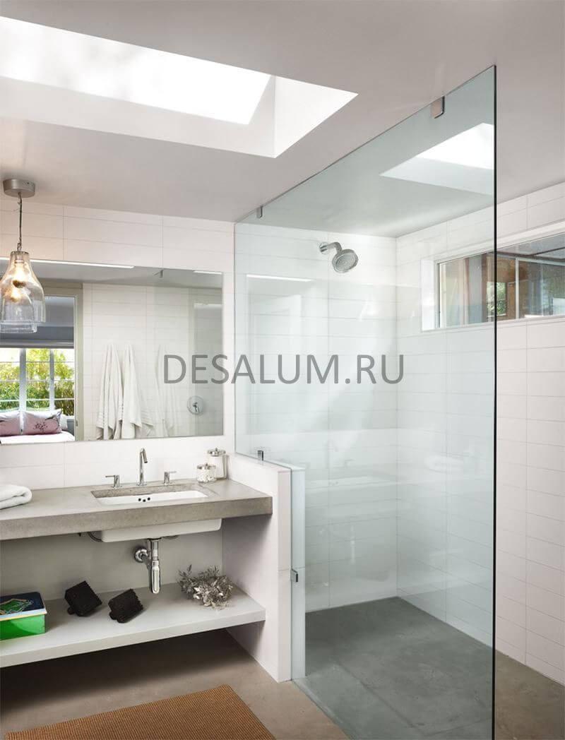 Стеклянные двери для ванной комнаты desalum