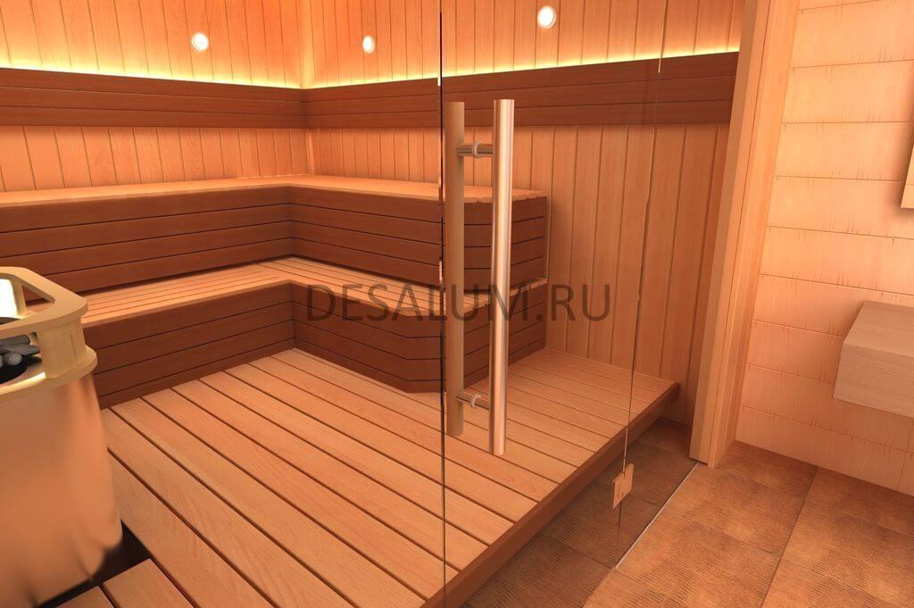 Стеклянные двери для бани и сауны desalum