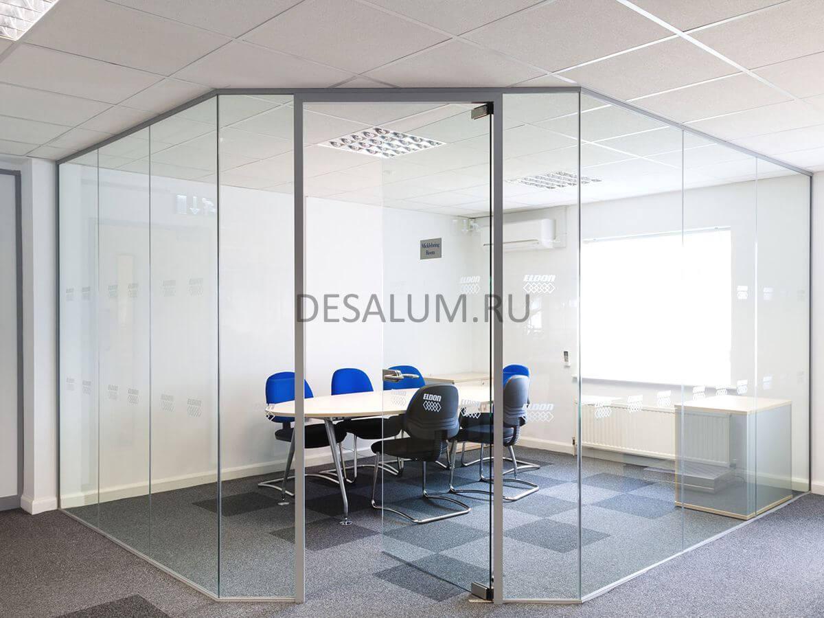 стеклянные двери для офиса desalum
