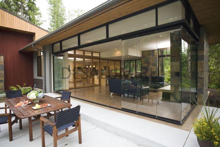 Стеклянные двери для террасы и веранды desalum