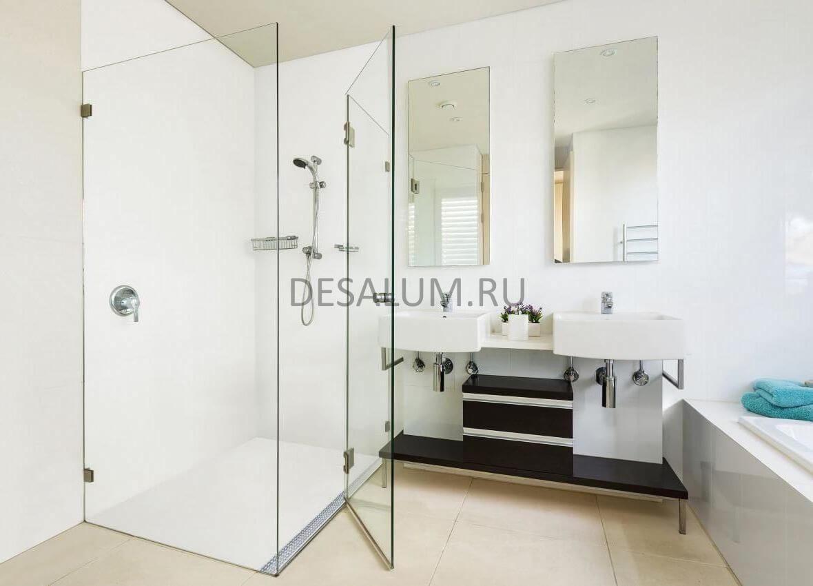 Пластиковые перегородки для ванной комнаты desalum