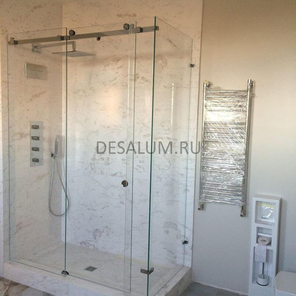 Стеклянные душевые двери desalum