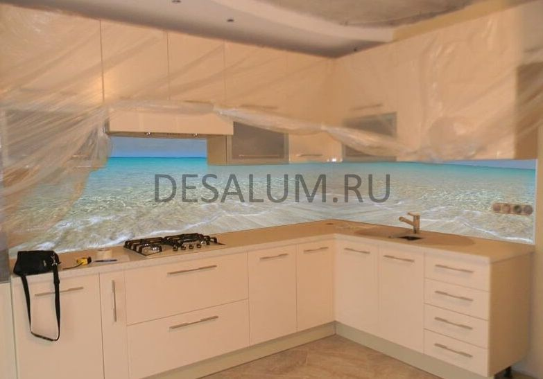 стеновые стеклянные панели для кухни desalum