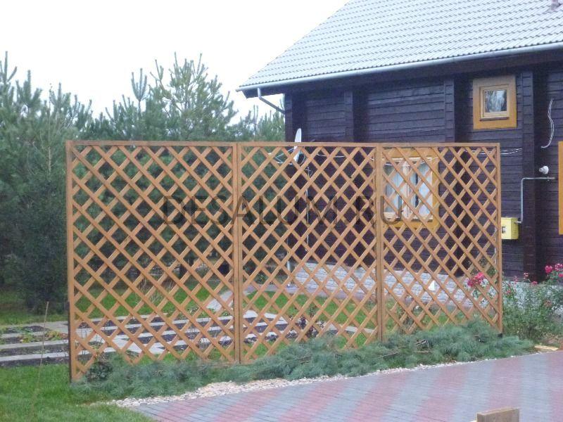 Деревянные перегородки для дачи